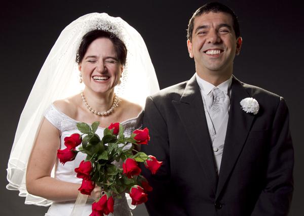 Amor confesso, com Cláudia Ventura e Alexandre Dantas. Foto: Silvana Marques