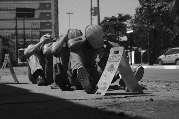 Intervenção Memórias do cárcere. Foto: Thiago Liberdade
