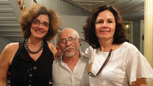 Paula de Renor (dir), ao lado de Paulo de Castro e Carla Valença