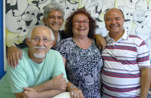Paulo de Castro, Roberto Xavier, Ivonete Meo e Feliciano Félix