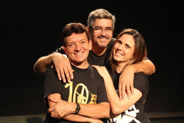 Manoel Carlos, André Filho e Daniela Travassos, o núcleo duro da Cia Fiandeiros