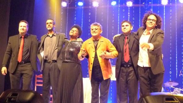 Músicos e cantores do show Porcelana. Fotos: Ivana Moura