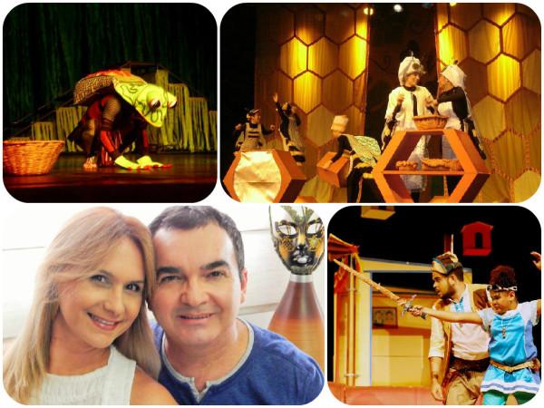 Tarô-Bequê ; Meu Reino por um drama; os homenageados Monica e Roberto e Chico e Flor