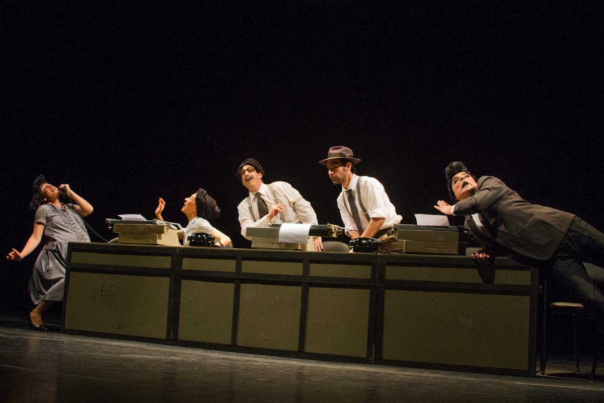 Fidel-Fidel. Conflicto en la prensa, do grupo argentino El Bachín Teatro. Foto: Jennifer Glass