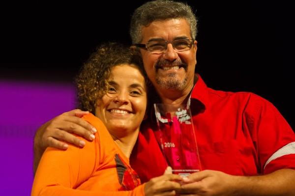 Tamara com André Filho. Foto JGE