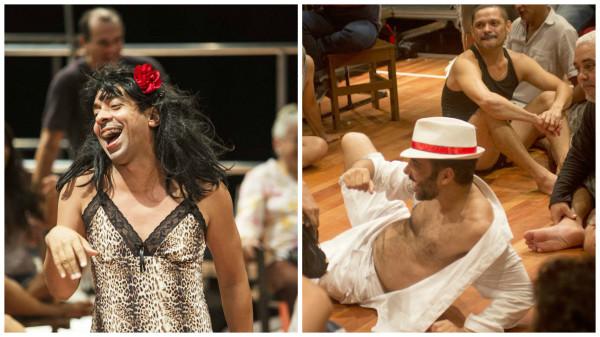 Dois atores de Sistema 25 dividiram o prêmio de coadjuvante. Fotos: Rogério Alves