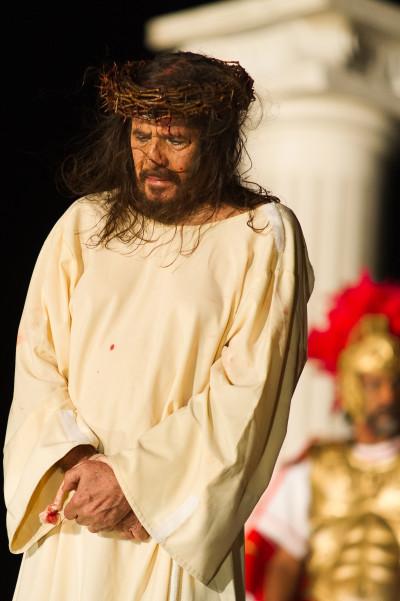 José Pimentel começou a interpretar Jesus em Nova Jerusalém. Foto: Wellington Dantas