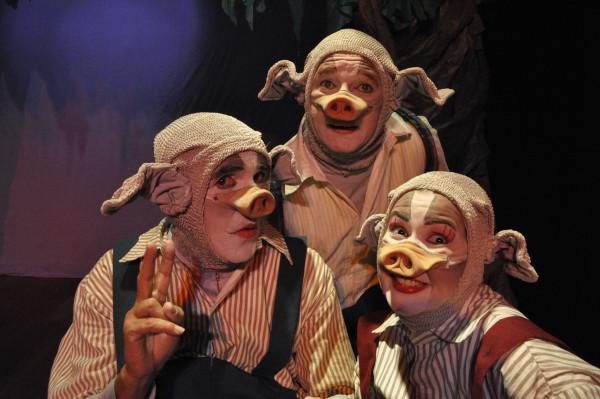Os Três Porquinhos. Foto: Pedro Portugal