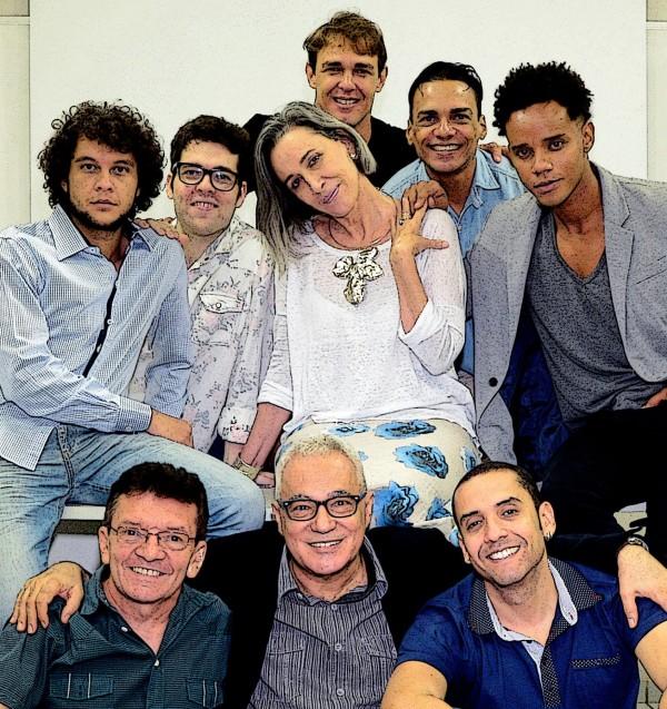Equipe de Puro lixo: Samuel,Paulo,Stella Eduardo, Marinho e Gil: Manoel, Antonio e Igor. Foto Yeda Bezerra de Melo