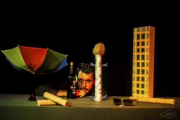 O Mascate, a Pé rapada e os Forasteiroscom o ator Diógenes D. Lima. Foto: Toni Rodrigues