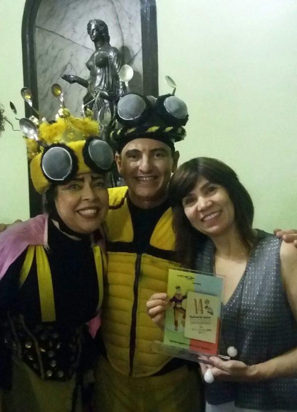 Cira Ramos (D) é homenageado do fetival de Edvane Bactista e Ruy Aguiar