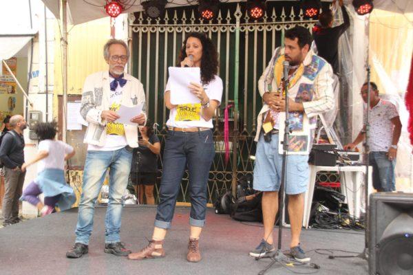 Cláudio Ferrário, FabianaPirro e Diógenes D. Lima, da comissão organizadora do evento. Foto Xirumba Amorim