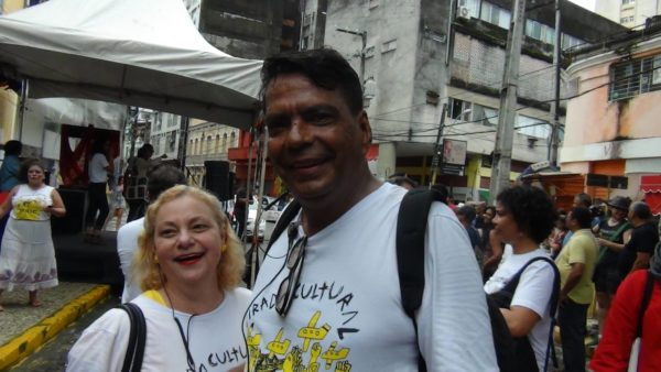Simone Figueiredo e Toninho Rocha, da organização do evento. Foto: Alcides Ferraz