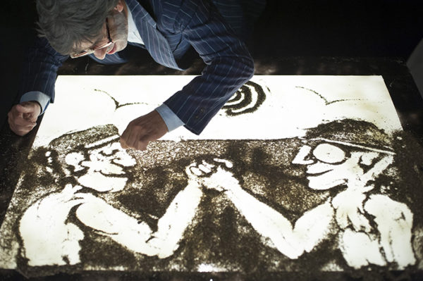Mercurio passou dois anos para desenvolver uma técnica de animação com erva-mate. Pablo Gonzales