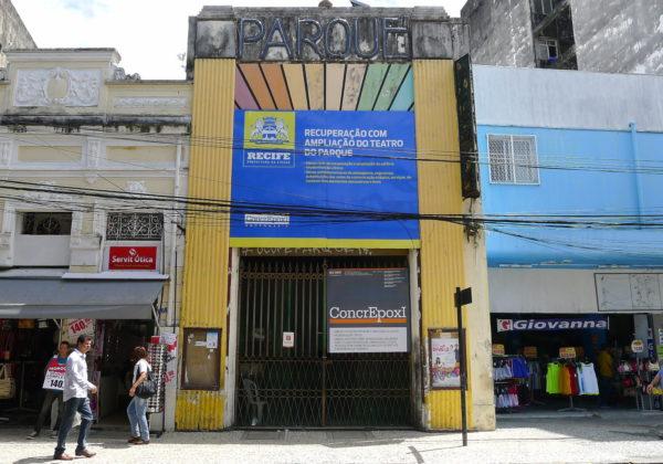 Fachada do Teatro do Parque. Foto; Ivana Moura