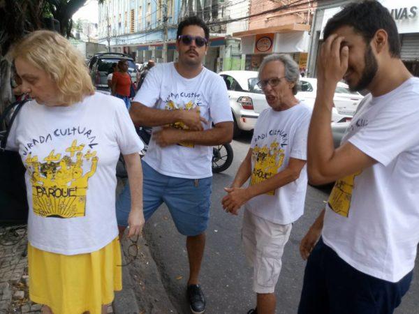Simone Figueiredo, Diógenes D. Lima, Claudio Ferrário e ... mobilização deste sábado. Foto: Reprodução do Facebook