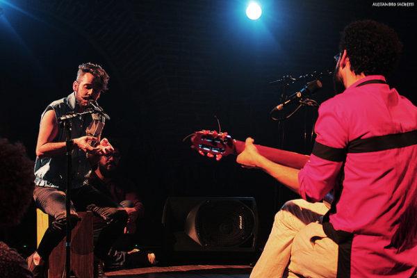 Encontro de 14 amigos-músicosno show Reverbo Foto: Alessandro Sanches