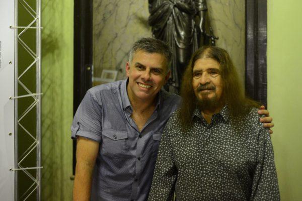 Cleodon Coelho e o biografado José Pimentel. Foto Pedro Portugal