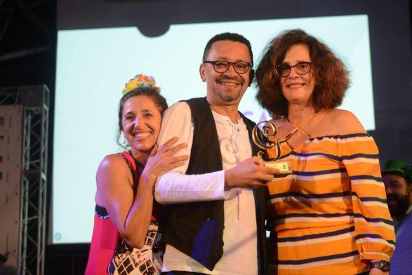 Sandra Possini, Rudimar Constâncio e Carla Valença. Foto: Pedro Portugal