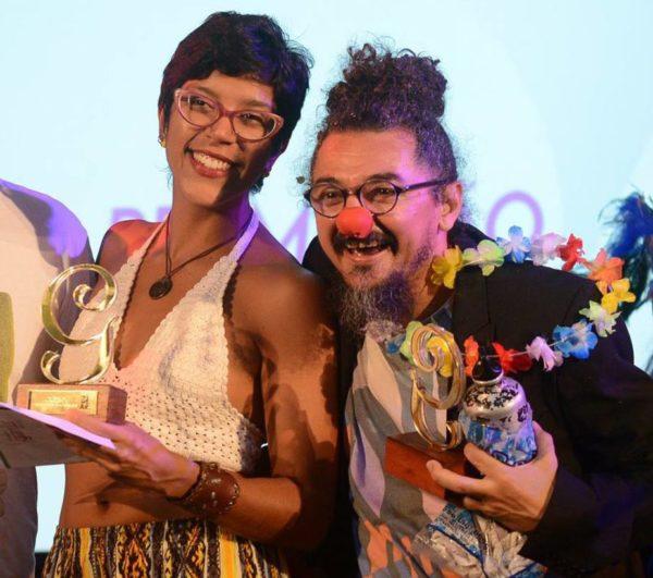 Iara Campos e Flávio Renovatto, da peça Mucurana, o Peixe. Foto: Pedro Portugal