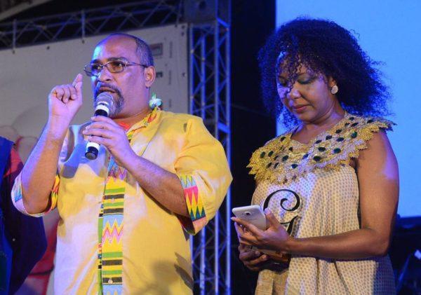 Samuel Santos e Naná, um dos coletivos homenageados. Foto: Pedro Portugal