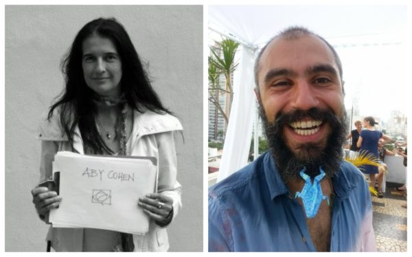 Aby Cohen e Renato Bolelli Rebouças. Fotos: Reprodução da internet