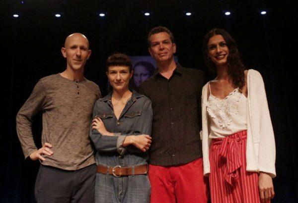 Maikon K, Elisabete Finger, Wagner Schwartaz e Renata Carvalho em Domínio Público. Foto: Annelize Tozetto_Divulgação / FTC.